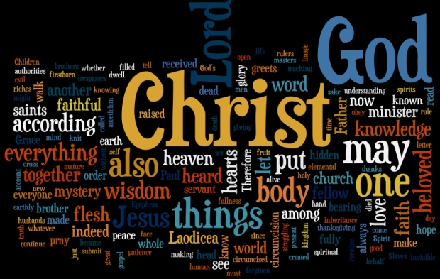 Colossians-wordle